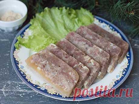 Зельц - пошаговый рецепт приготовления с фото / COOK-MASTER.RU