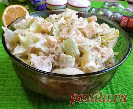 Услышав, что салат с макаронами, гости удивляются, а попробовав, просят рецепт - Рецепты для дома