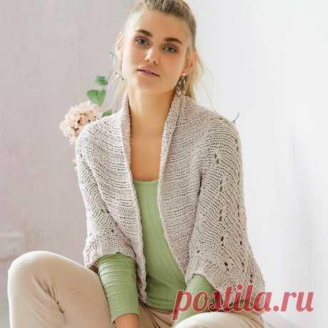 Жакет-душегрейка - схема вязания спицами с описанием на Verena.ru