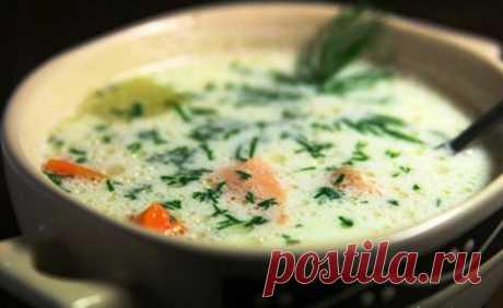 ПП-обед: сырный суп с рыбой На 100 грамм всего 56.03 ккал!