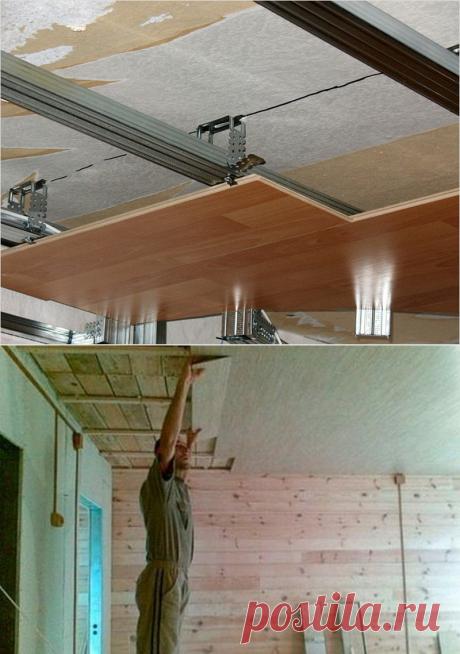 Отделка потолка ламинатом | Роскошь и уют