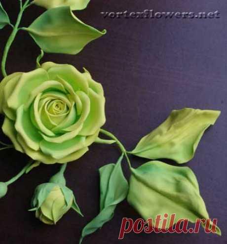 Способ скручивания лепестков и листьев из фоамирана через эластичную ткань. Как сделать изящные листья из фома без молдов   Vortex Flowers