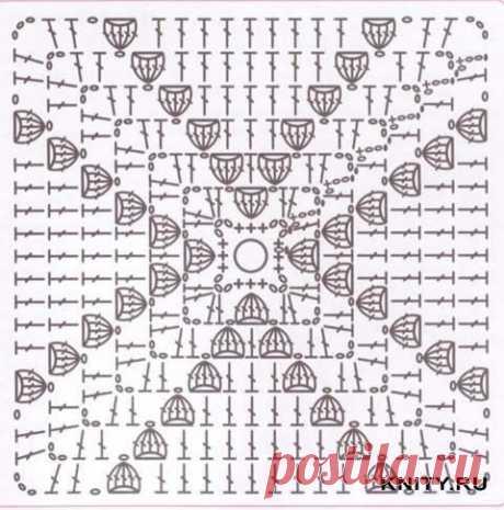 Много схем квадратных мотивов крючком — DIYIdeas