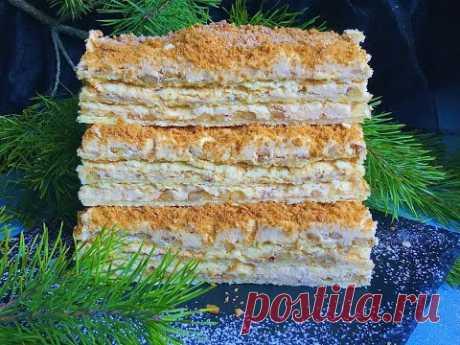Афганский торт наполеон - готовим любимый наполеон по-новому ✨