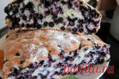 Пирог «Замарашка» с черникой