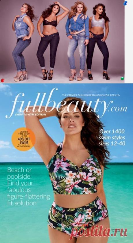 Каталог купальников для полных женщин американского бренда FullBeauty, лето 2016