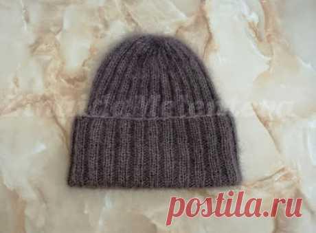 Вяжем вместе: Объёмная шапка из мохера