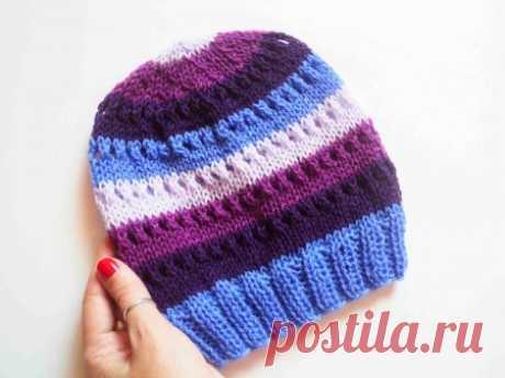 Осенняя шапка спицами » «Хомяк55» - всё о вязании спицами и крючком