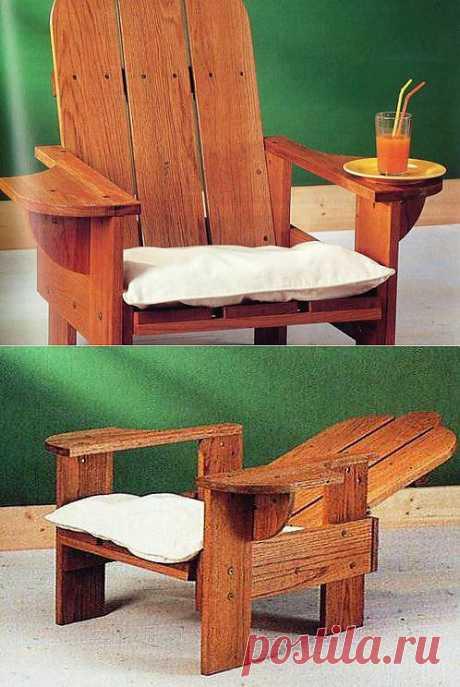 (+1) тема - Деревянное кресло с с откидной спинкой   СДЕЛАЙ САМ!