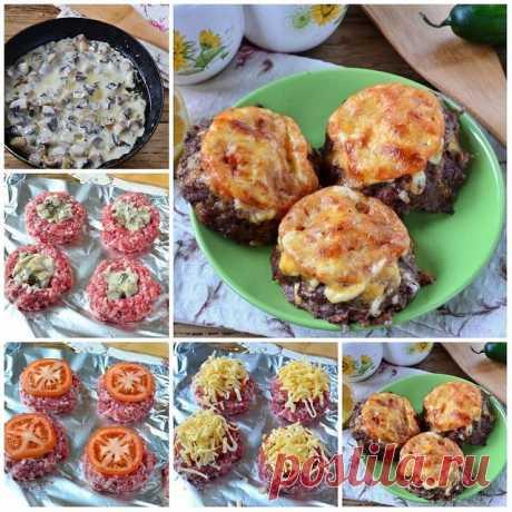 Мясные гнёзда со сливочными грибами — Готовим по-домашнему