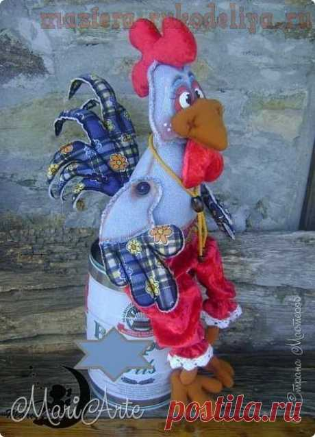 Master class in sewing of toys: Cockerel