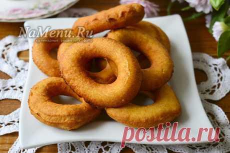 Пончики на кефире за 15 минут, вкуснятина из детства
