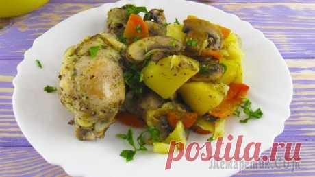 Мясо с картофелем и грибами в рукаве!