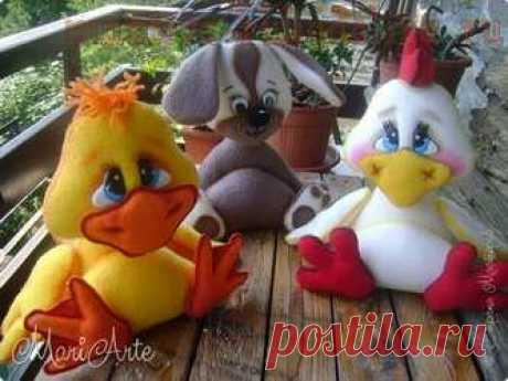 Master class in sewing of toys: A chicken and To