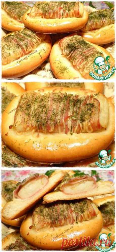 Булочки с картофелем и беконом - кулинарный рецепт