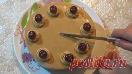 Домашний торт «Крем-брюле» с вишней - Со Вкусом