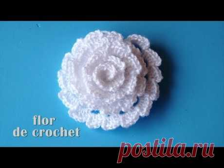 DIY - Lindisima flor facilisima de crochet DIY - Beautiful and easy crochet flower