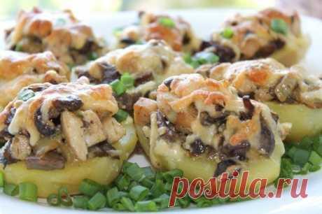 Как приготовить картошка с курицей и грибами. - рецепт, ингридиенты и фотографии