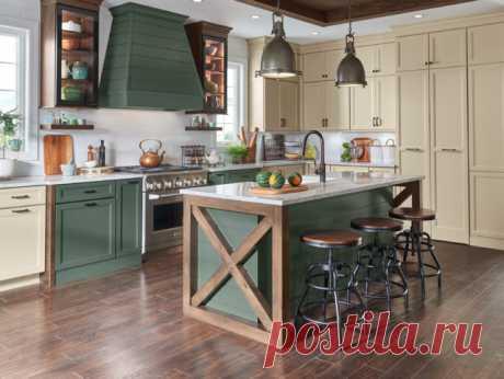 Просто фото: Кухни в три цвета — 22  примера Не пора ли добавить еще один оттенок к двухцветным кухням?