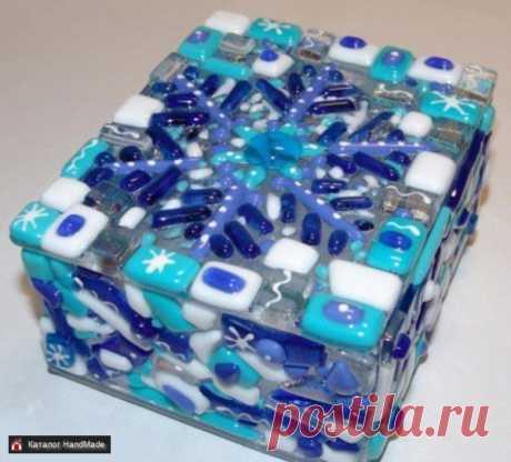 Шкатулка Зимушка-зима фьюзинг купить в Беларуси HandMade, цены в интернет магазинах