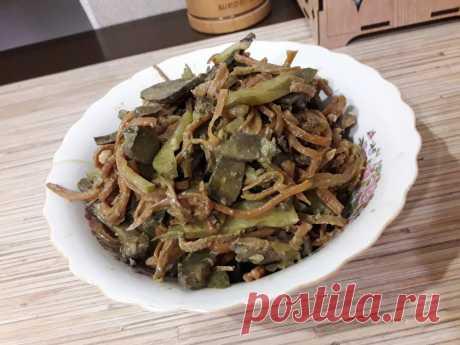 Салат из печени с соленым огурчиком рецепт с фото пошагово