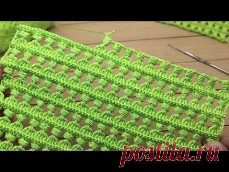 Красивый и простой УЗОР крючком МАСТЕР-КЛАСС вязание для новичков How to crochet EASY for beginners