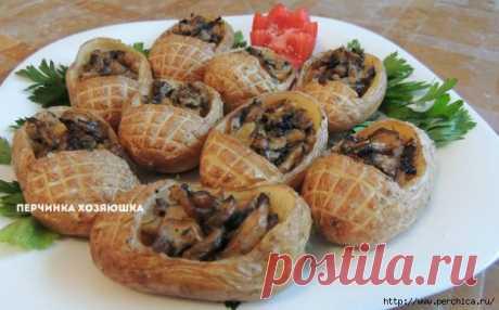 ДЛЯ ПОСТА И В ПРАЗДНИКИ - Картофельные лапти с грибной начинкой