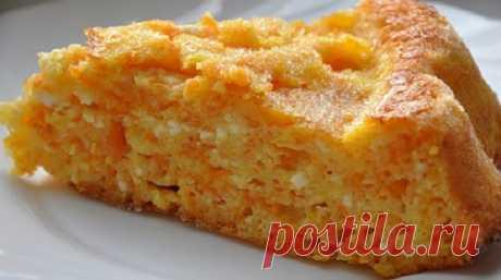 Морковно-яблочная запеканка с творогом для любимых деток
