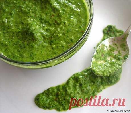 Укропный соус для первых блюд и салатов