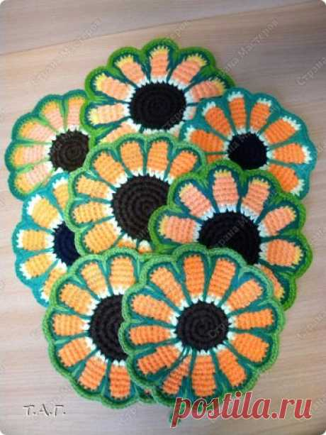 "knitted tack of ""Золотой подсолнушек"""