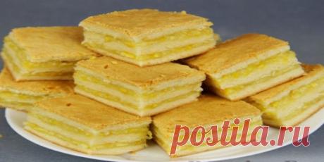 Невероятно вкусное пирожное с лимонно-апельсиновой начинкой. Рецепт простейший