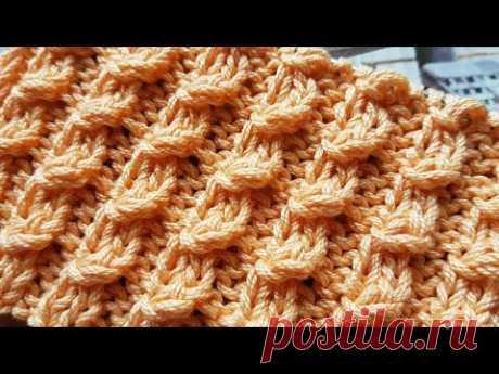 Вяжем мини рельефные косички спицами 🎉 knitting pattern.
