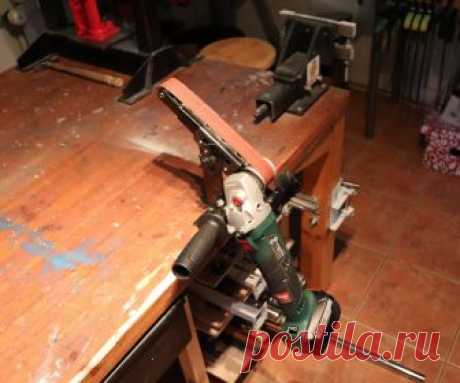 Quick Mounted Angle Grinder Power File / Belt Sander. Hi!There is a lot of power file angle grinder hacks on youtube.I haven't actually searched them, but youtube suggest them sometimes.. and when you have watched one,...