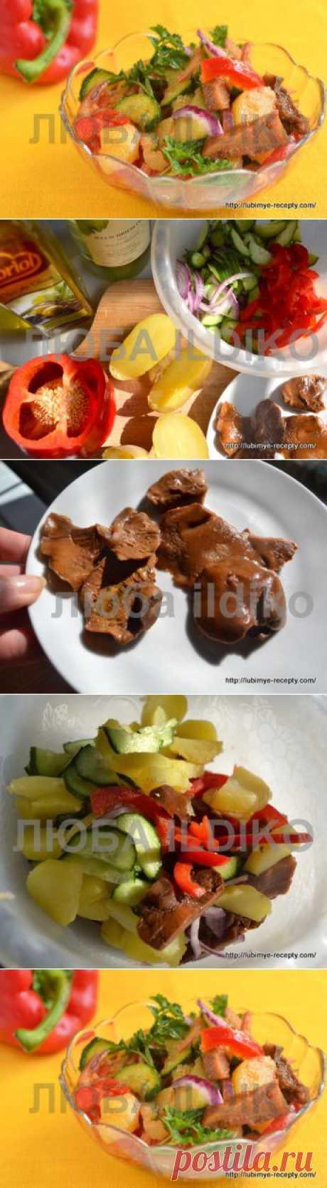 Салат с маринованными грибами «Кодру» | 4vkusa.ru