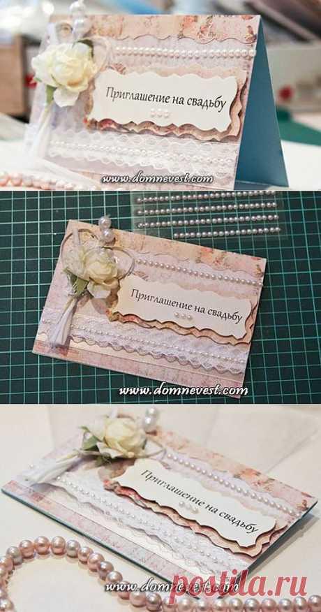 Приглашение на свадьбу своими руками | Дом невест  Мастер-класс по изготовлению свадебных приглашений