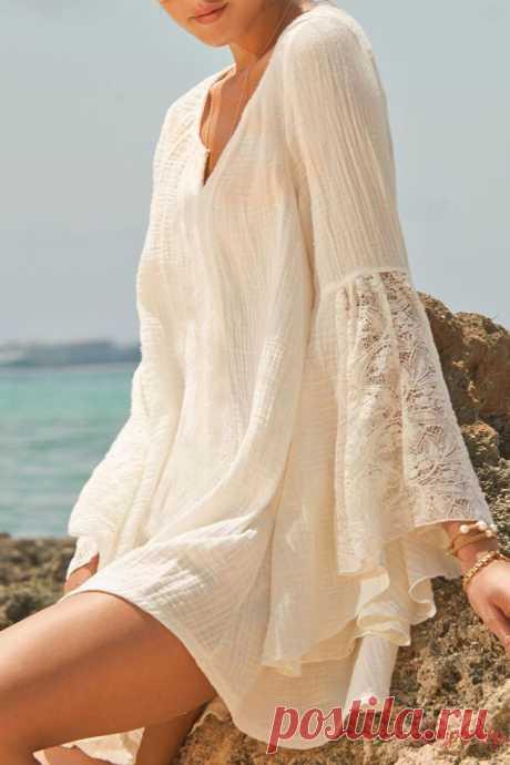 Лето — время белого бохо: нежные и элегантные наряды цвета чистоты | Журнал Ярмарки Мастеров