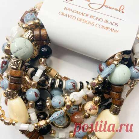 Boho Bracelet Set Beaded Bracelets Gypsy Bracelets Stacking   Etsy