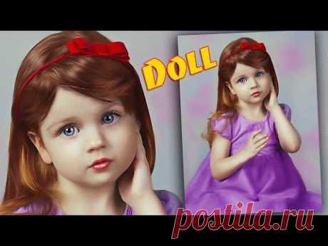 Кукольный образ в Фотошопе