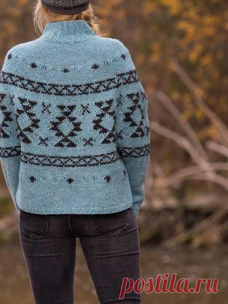 Пуловер Оверсайз с Жаккардом RUG ОТ JUNKO OKAMOTO