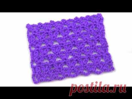 Несложный сетчатый узор   Uncomplicated mesh pattern
