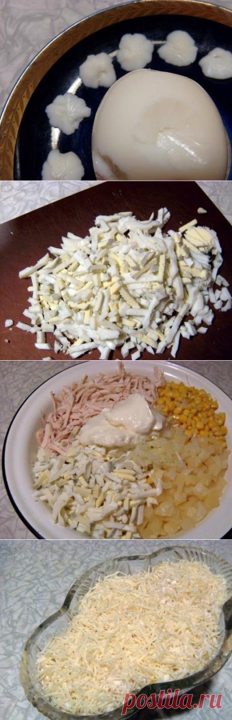 Как приготовить нежный и легкий салатик ветка сакуры - рецепт, ингредиенты и фотографии