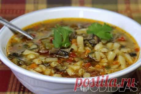 Грибной суп с перловкой - рецепт приготовления с фото