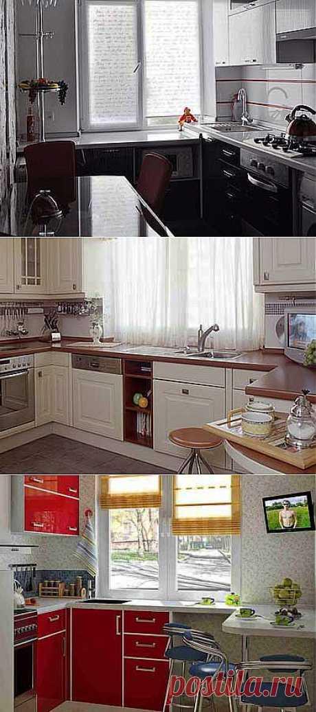 Как использовать подоконник на кухне?