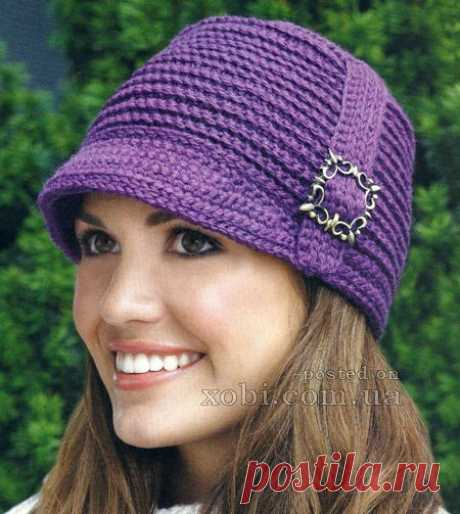 Женские вязаные шапки, шляпки, береты, кепки, панамки и повязки на голову » Страница 3