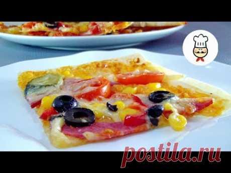 ПИЦЦА на ЛАВАШЕ / Как приготовить в домашних условиях / Рецепты - Волшебная еда - YouTube Приготовьте вкуснейшую быструю пиццу на обычном лаваше. Это очень просто. Привлекайте к готовке своих маленьких помощников. Это очень простой и легкий рецепт. Ингредиенты: • Лаваш – 2 шт. • Сыр – 300 г • Колбаса – 200 г • Перец болгарский – 0,5 шт. • Помидоры черри – 10 шт. • Кетчуп – 4 ст. л. • Сметана – 2 ст. л. • Кукуруза – 4 ст. л. • Маслины – 20 шт. • Соленый огурец – 2 шт.