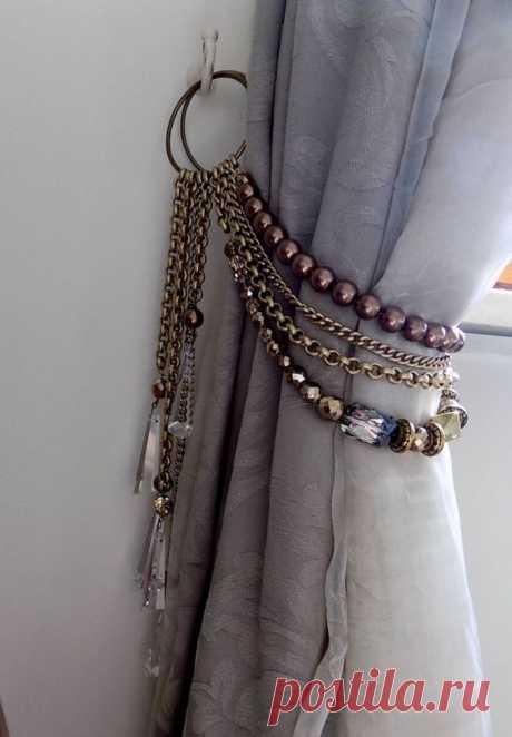 Очарование винтажных штор: мастерим подхваты сами | Obustroeno.Com