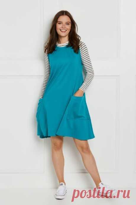 Женское платье сарафан  Размеры выкройки: XS,S,M,L,XL