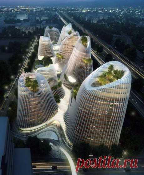 Город Shan Shui, Китай