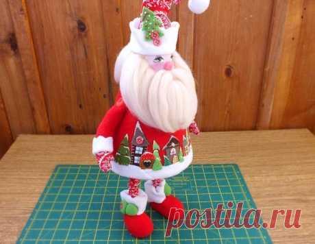 Дед Мороз из флиса — DIYIdeas