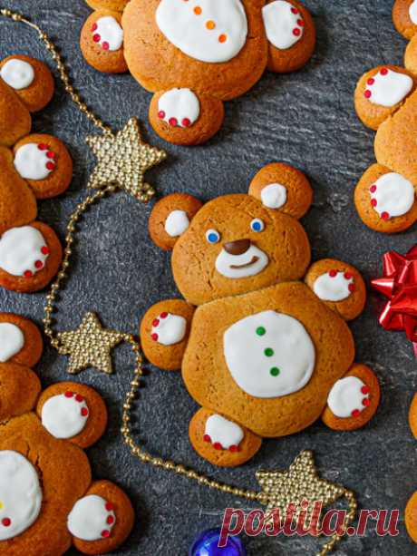 """Рецепт печенья """"Имбирные медвежата"""" на Вкусном Блоге"""